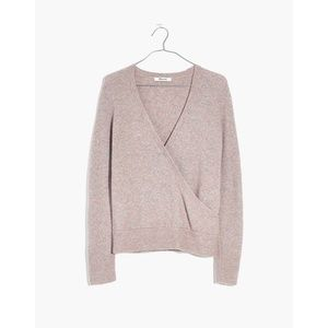 Madewell wool alpaca wrap around pullover sweater